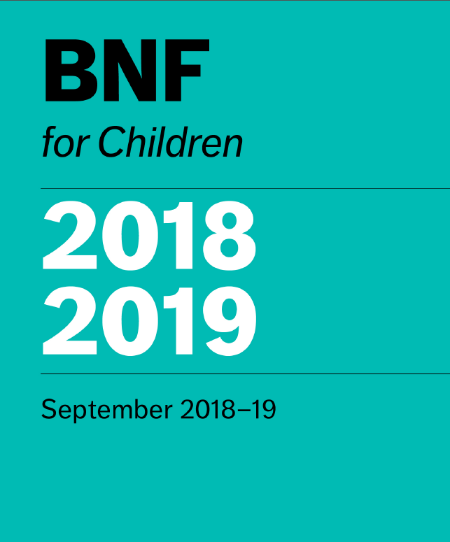 کتاب BNF برای کودکان 2019-2018 (فرموله ملی انگلستان برای کودکان)