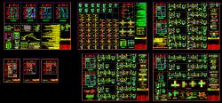 نقشه اجرایی معماری، سازه و فایل محاسبات ساختمان مسکونی 4 طبقه